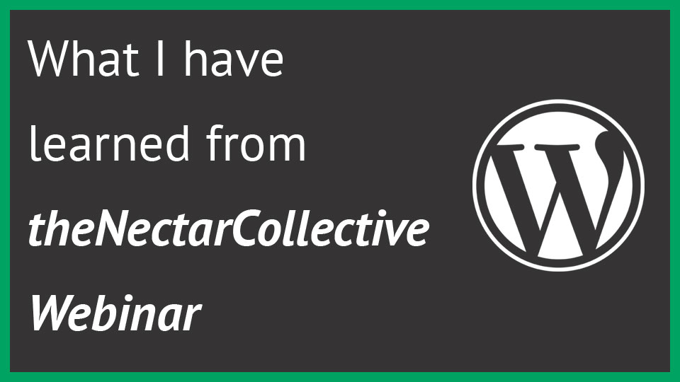 Thumbnail for What I have learned from webinar