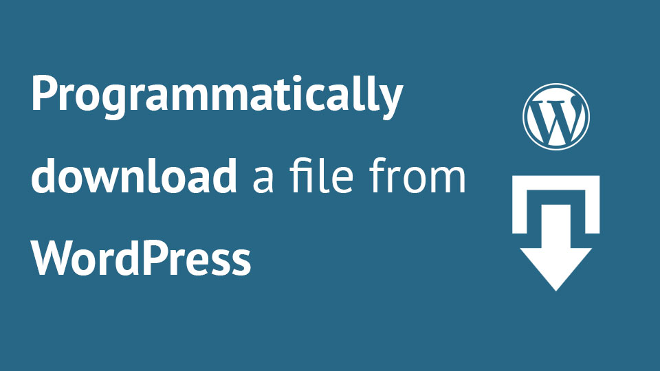 Programmatically Download a File From WordPress