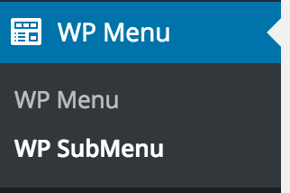 Menu and submenu